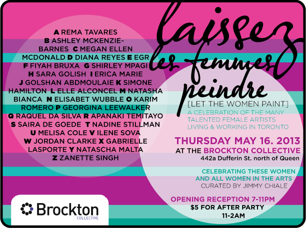 Brockton Presents: Laissez les Femmes Peindre - Let the Women Paint