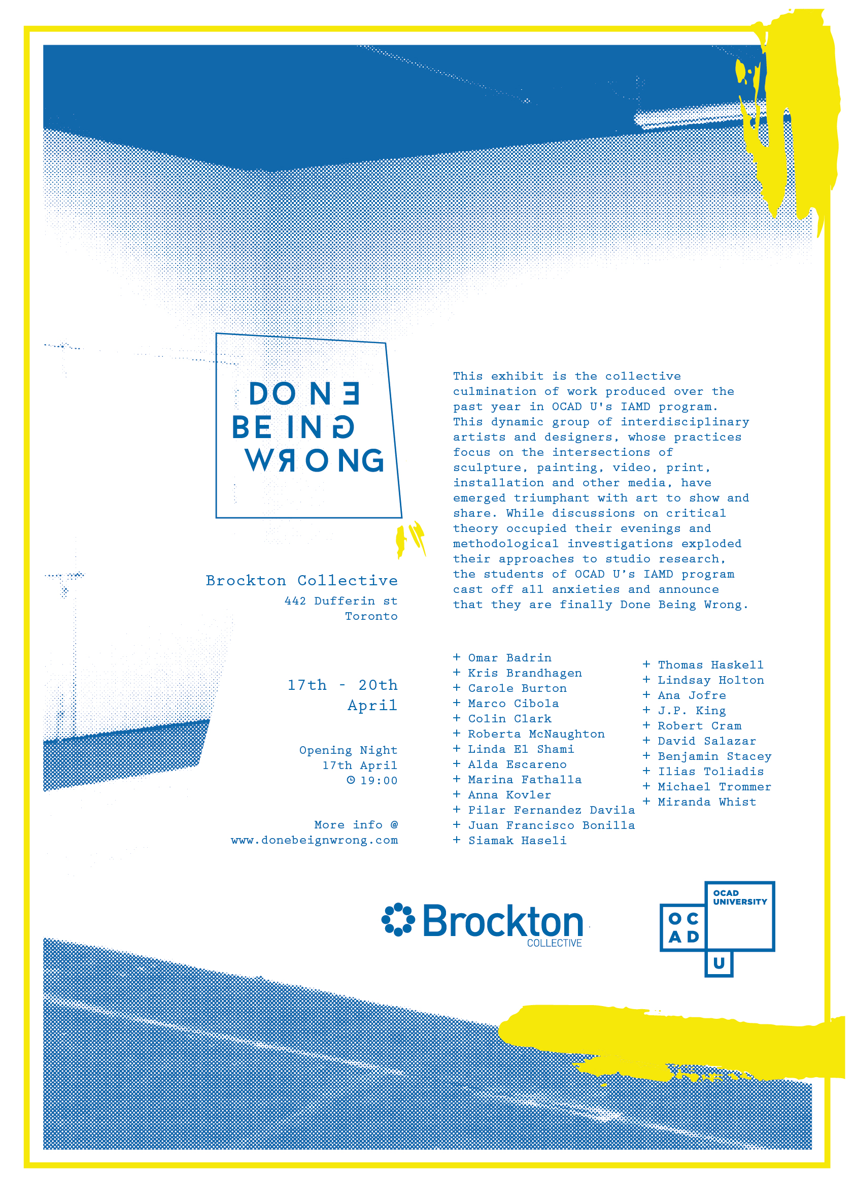 Brockton Presents: Done Being Wrong